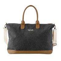 Personalized Washed Canvas Duffel Weekender Tote