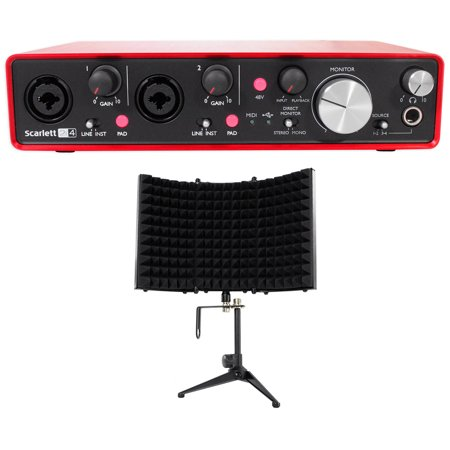 Focusrite SCARLETT 2I4 2nd 192kHz Audio Recording Interface + Isolation