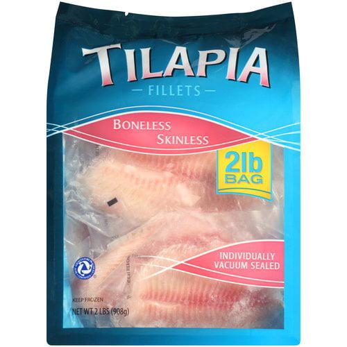 Boneless, Skinless Tilapia Fillets, 2 lbs