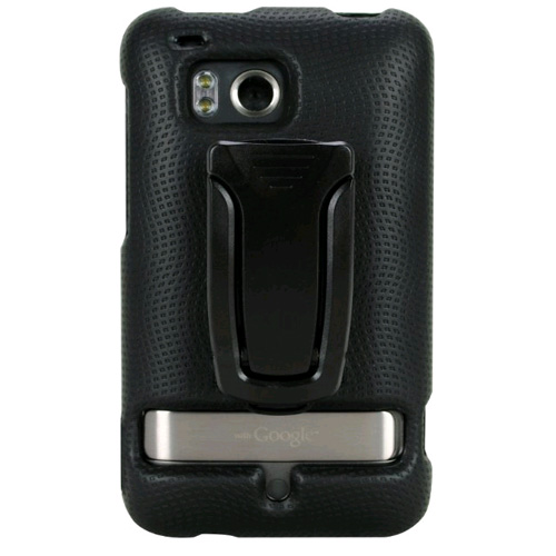 Body Glove Snap-On Case with Kickstand for HTC Thunderbolt (Black)