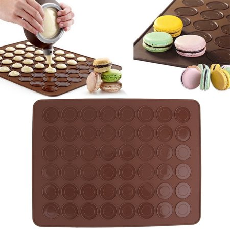 48 Silicone Macaron Macaroon Pastry Cookie Muffin Oven Baking Mat