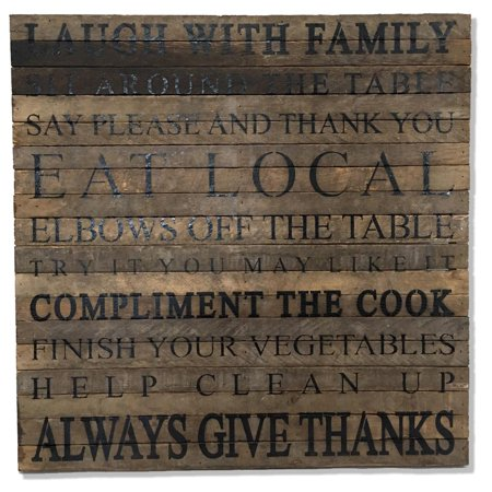 Reclaimed Wood Art Wall Decor Laugh With Family Sit Around The Table ...