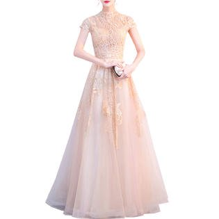 Embroidered Lace Wedding Dress - Women Embroidered Lace Beautiful Wedding Dress
