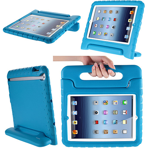I-Blason - IPAD3KIDO-BLUE - i-Blason ArmorBox Kido Carrying Case for iPad 2, iPad 3, iPad 4 - Blue - Impact Resistant,