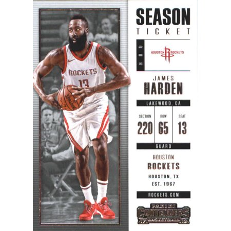 2017-18 Panini Contenders Season Ticket #77 James Harden Houston Rockets Basketball Card