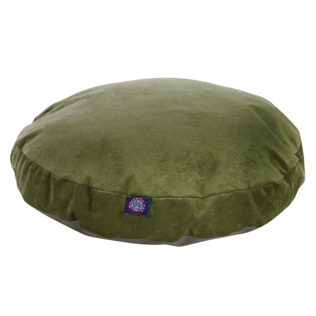 Bed Apple Velvet - Majestic Pet Villa Round Dog Bed Velvet Removable Cover Machine Washable