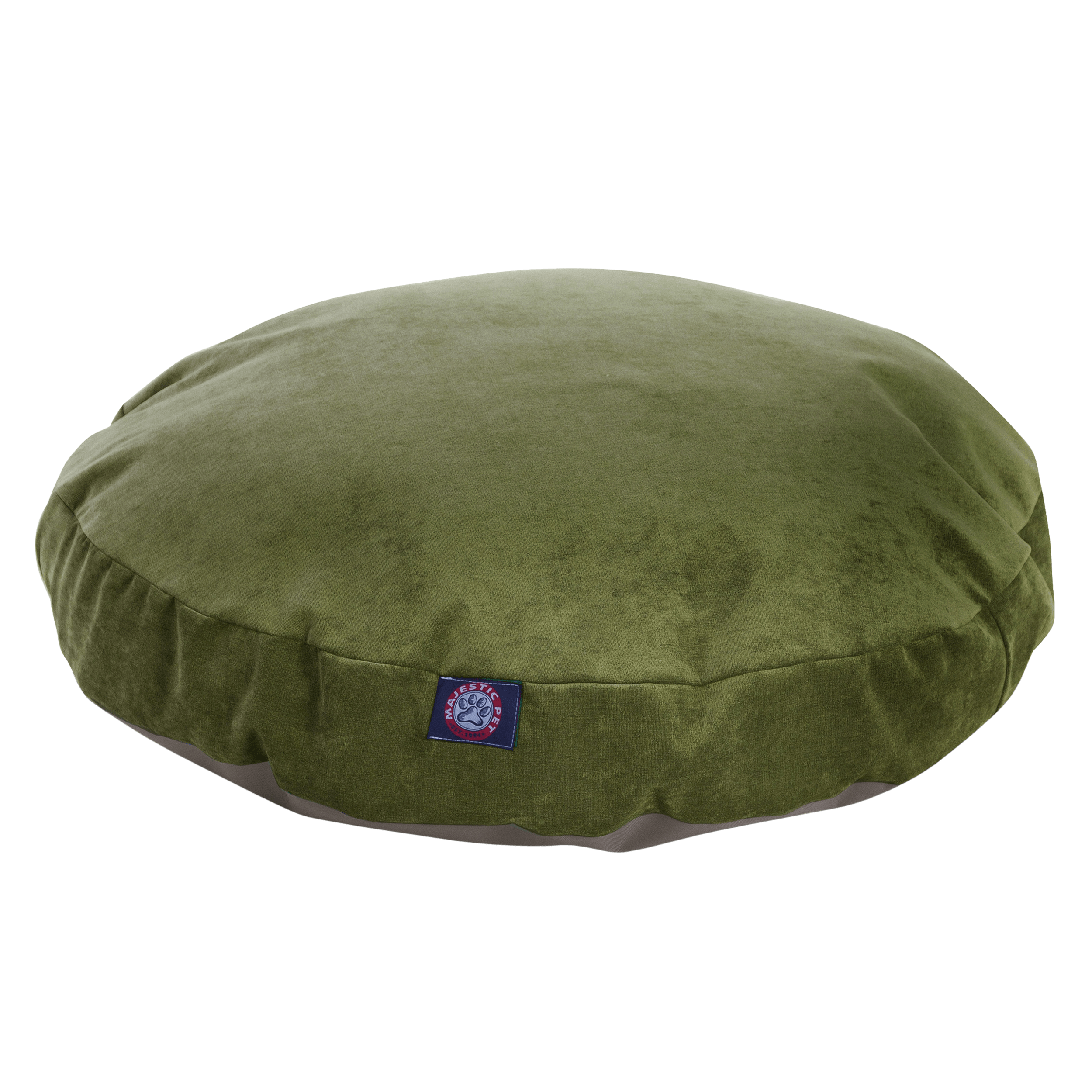 Majestic Pet Villa Round Dog Bed Velvet Removable Cover Machine Washable