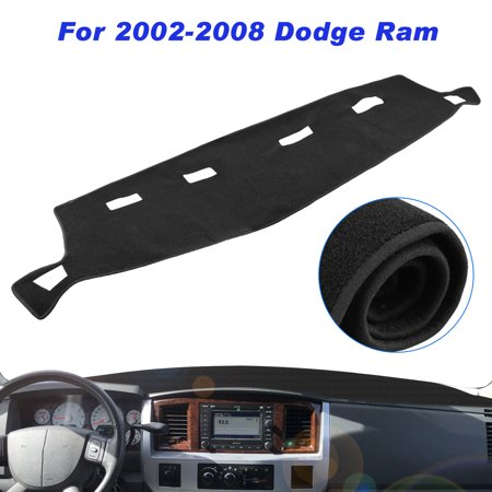 3500 Dash Cover (TSV Dashboard Dash Cover Mat Black for Dodge Ram 1500 2500 3500 2002 2003 2004 2005 2006 2007 2008)
