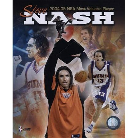 Steve Nash 2004   2005 Nba Most Valuable Player Composite Sports Photo