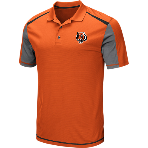 Men's Majestic Orange Cincinnati Bengals Draft Prize Polo