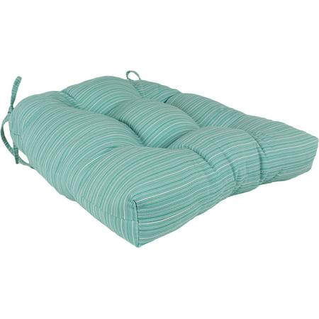 Lakeside Teal Marseille Indoor / Outdoor Seat Cushion Patio D Cushion ()