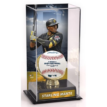 Starling Marte Pittsburgh Pirates Gold Glove Display Case with Image Pittsburgh Pirates Display Cases