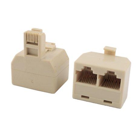 connecteur rj45 8p8c 1 m le vers 2 femelle cl de vo te porte s parateur c ble r seau beige 2pcs. Black Bedroom Furniture Sets. Home Design Ideas