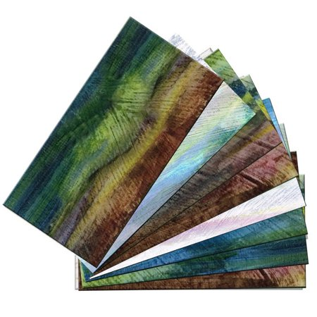 - SkinnyTile 04412 Peel and Stick Van Gogh Watercolors 6 in. x 3 in. Glass Wall Tile (48-Pack)