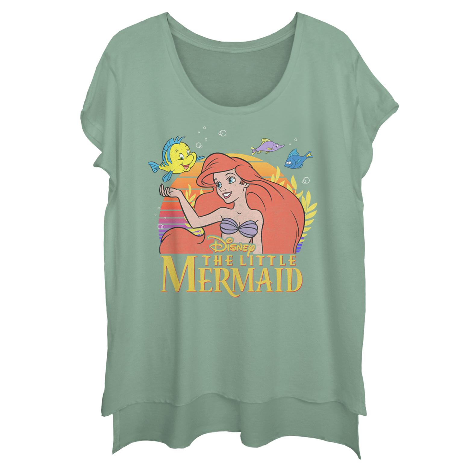 The Little Mermaid Juniors' The Little Mermaid Ariel Classic Scoop Neck T-Shirt