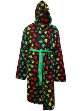 Product Image Rasta Themed Ganja Weed Leaf Cozy Hooded Robe aa8d131cb