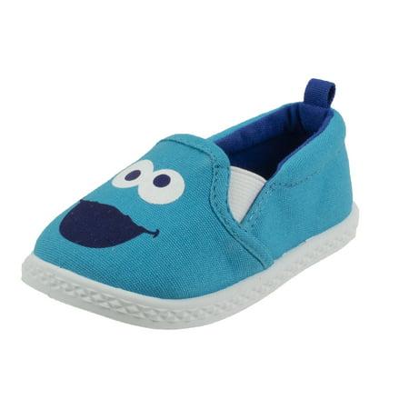 Sesame Street Elmo and Cookie Monster Prewalker Baby Shoes, Infant Shoe sizes 2 to 5 Logan Infant Shoe
