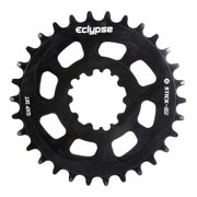 Eclypse, Glide-Pro Stick Em DM, 32T, 9-11sp, Direct Mount, Chainring, Alloy, Black, 0mm offset