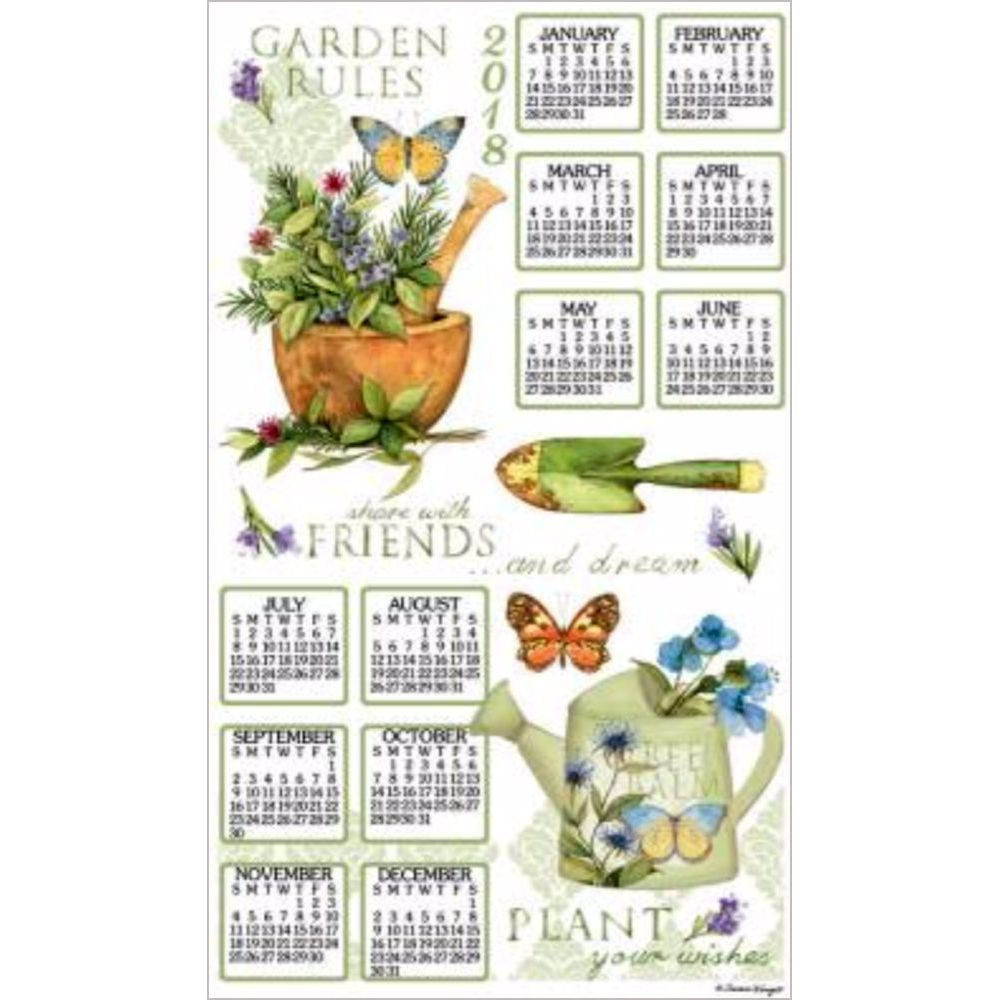 Exceptionnel 2018 Garden Rules Towel Calendar, Kitchen Towel By Kay Dee Designs