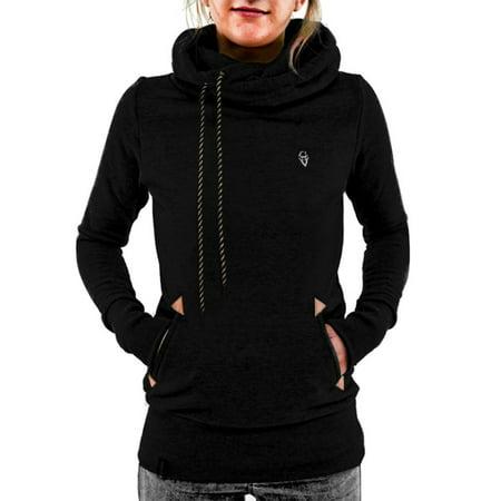 Babula Women Long Sleeve Hoodie Sweatshirt Pullover Top Coat