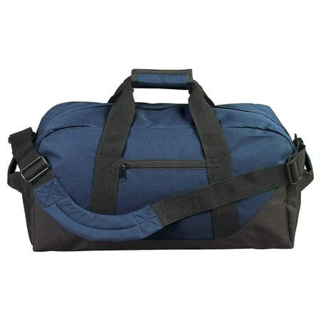 Small Duffle Gym Bag (Duffle Bag, Gym, Travel Bag Two Tone Navy 21