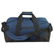 "Duffle Bag, Gym, Travel Bag Two Tone Navy 21"" inch"