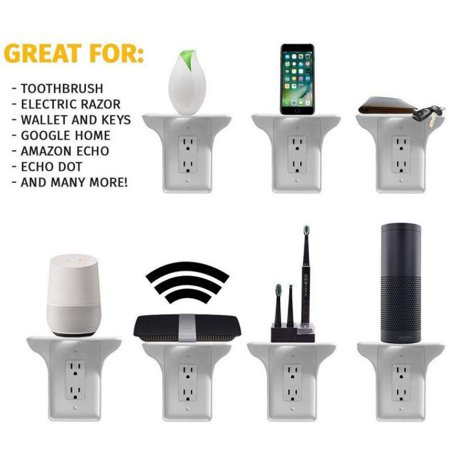 Wall Outlet Shelf Easy Installation Charging Socket Organizer for Phone