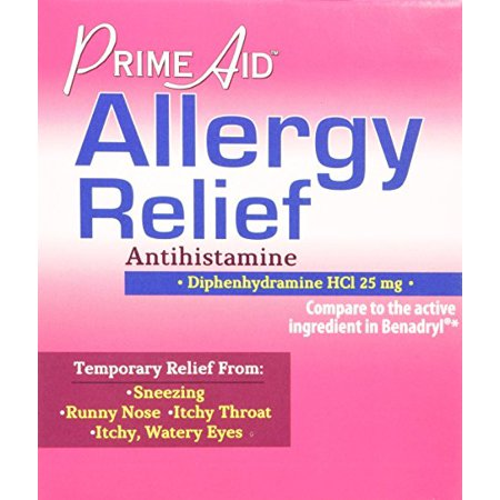 Generic Benadryl (Diphenhydramine Hcl 25 Mg Allergy Medicine and Antihistamine Compare to Active Ingredient of Benadryl Allergy Generic, Dispenser 30 Pouches (Travel Packs) of 2 Tablets )