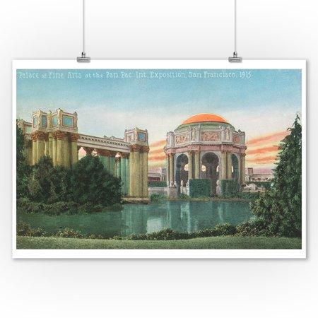 San Francisco, CA - Palace of Fine Arts View, Panama-Pacific Expo (9x12 Art Print, Wall Decor Travel (Ca Palace)