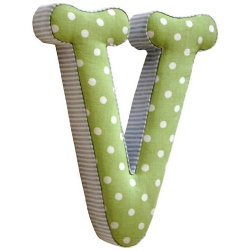 Newarrivals FLV-BG Fabric Letters V in Blue and Green
