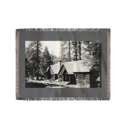 Camp Sierra  California View Of Lodge Dining Hall Photograph  60X80 Woven Chenille Yarn Blanket
