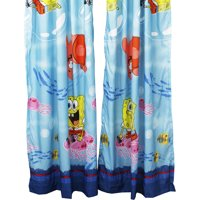 2pc Spongebob Squarepants Long Drapes Catch Me Spongebob Window Curtain Panels