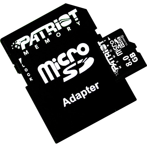 Patriot Memory LX 8GB MicroSDHC Flash Memory Card
