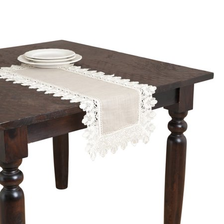 Saro Lace Trimmed Table Runner