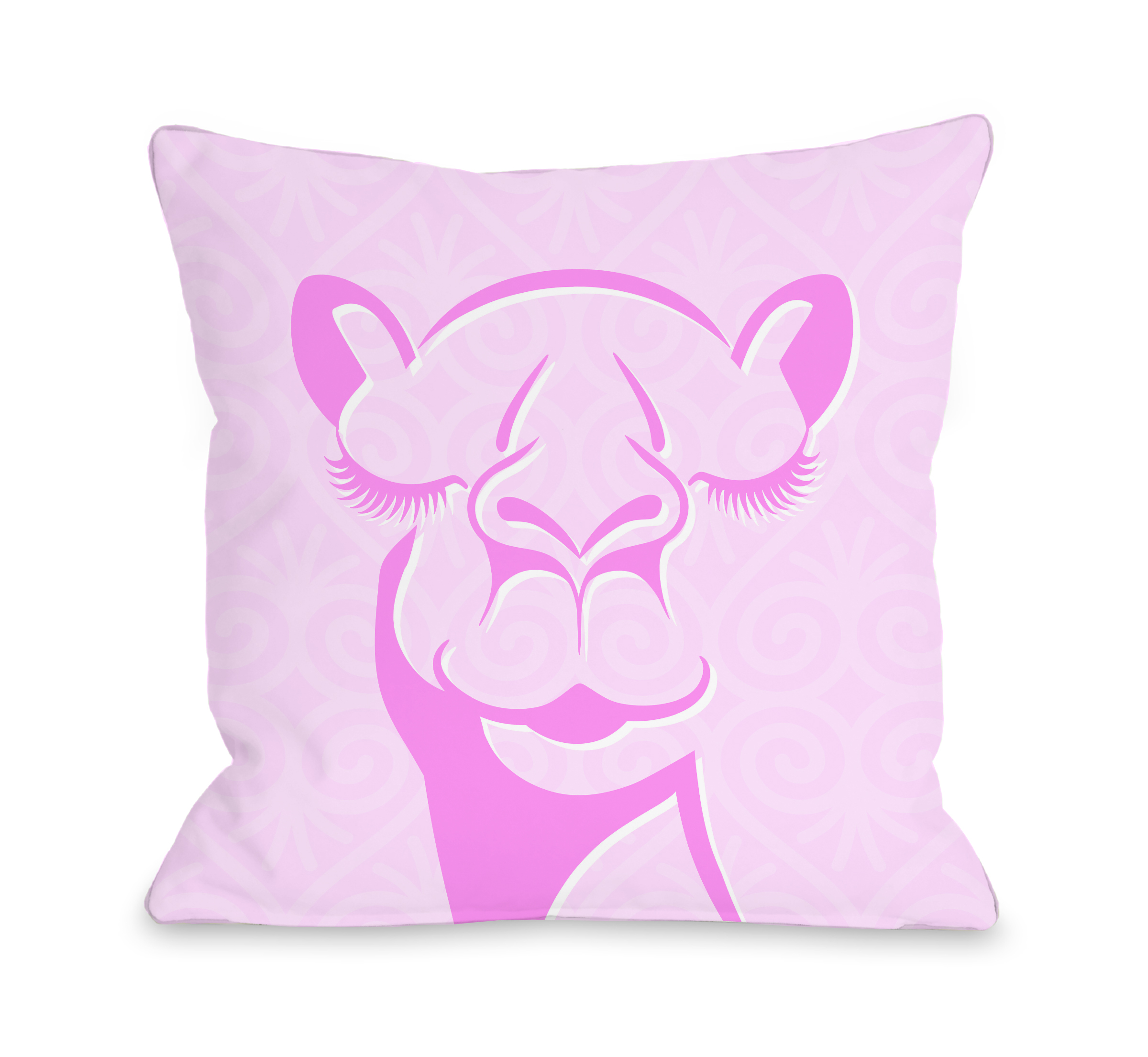 Camel - Pink 16x16 Pillow by OBC