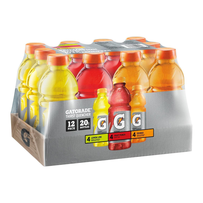 Gatorade Original Thirst Quencher Variety Pack, 20 oz Bottles, 12 Count