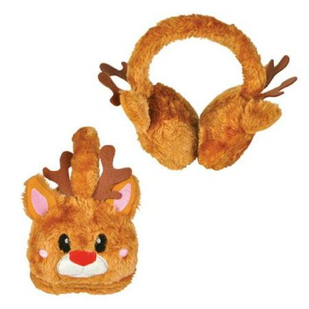Christmas Brown Reindeer Rudolf Ear Muffs
