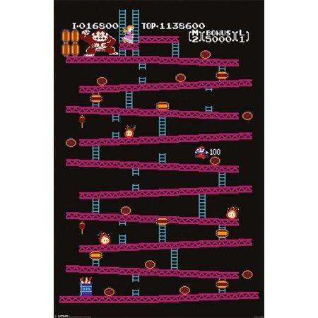 Nintendo Donkey Kong Level 1 Game  Poster - 24x36 inch ()