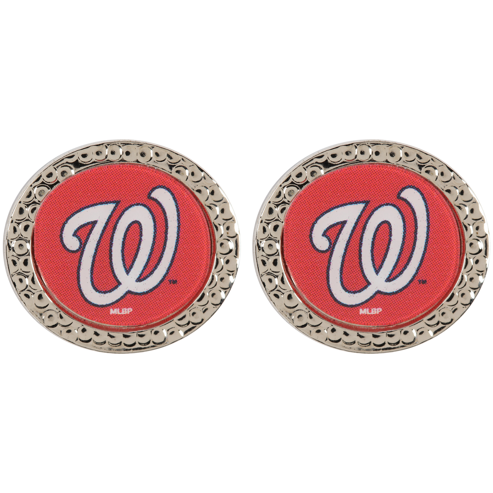 Washington Nationals WinCraft Women's Round Post Earrings - No Size