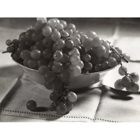 Grape Bowl Wall - Grapes in the Fruit Bowl Print Wall Art By Alessandro Bencini
