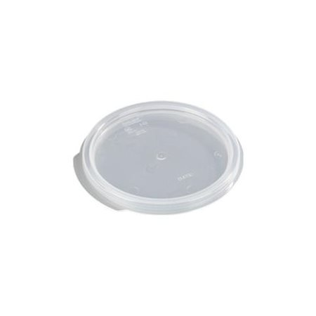 Carlisle 10770 Lid for 1 Qt. Clear Round StorPlus Container (Clear)