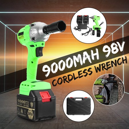 98V 9000mAh Cordless Motor Electric Impact Wrench Brushless 1/2