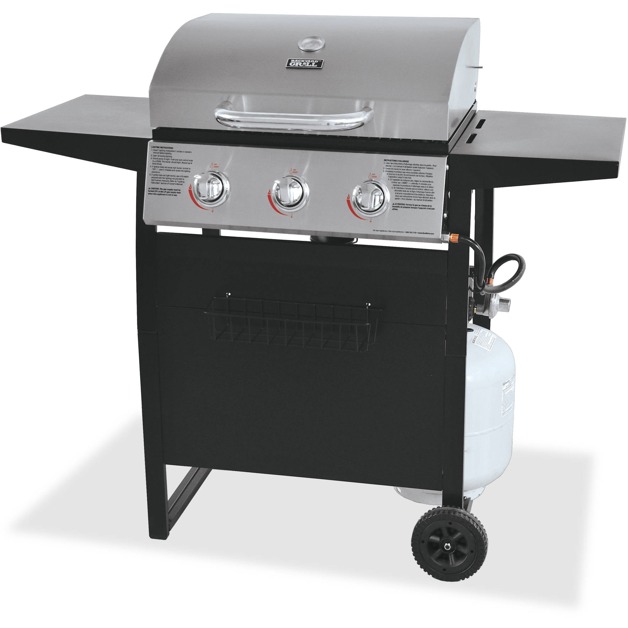 Backyard Grill Stainless Steel 3 Burner Gas Grill