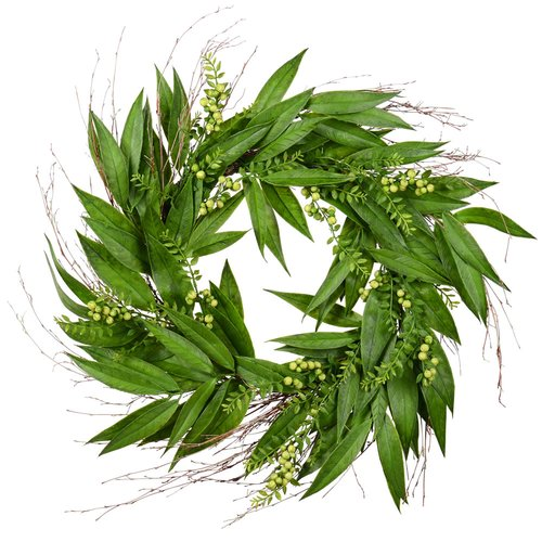 Charlton Home Artificial 24'' Willow Wreath