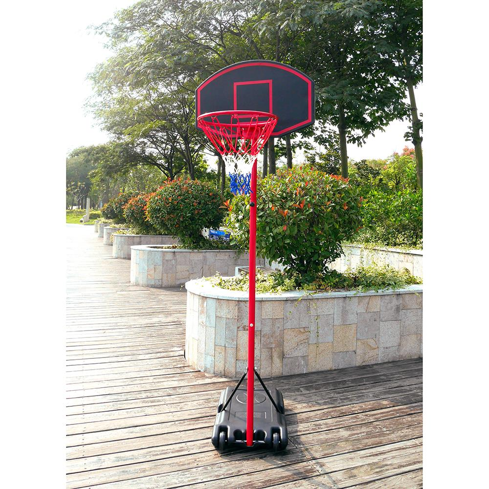 Ktaxon Portable Basketball Hoop, Height Adjustable Basketball Goal Stand System with Backboard, Wheels, for Inddor / Outdoor Kids Junior Playing (Many Size Optional)