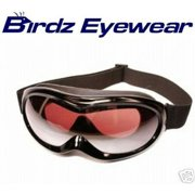 Birdz Eyewear Talon Ski Goggles with Black Frame Anti-Fog and Scratch Resistant Comfortable foam padding on the inside of goggles and adjustable strap guarantee a comfortable tight fit