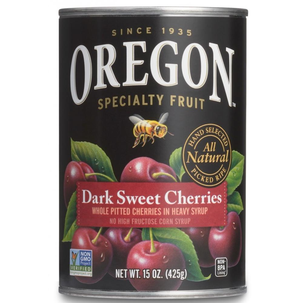 Oregon Fruit Products Pitted Dark Sweet Cherries In Heavy Syrup, 15 oz (Pack of 8) by Oregon Fruit