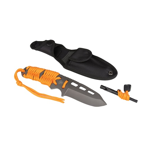 "5Ive Star Gear 5657000 Survival Paracord Fixed Knife 3.625"" Blade Sheath Orange by 5Ive Star Gear"