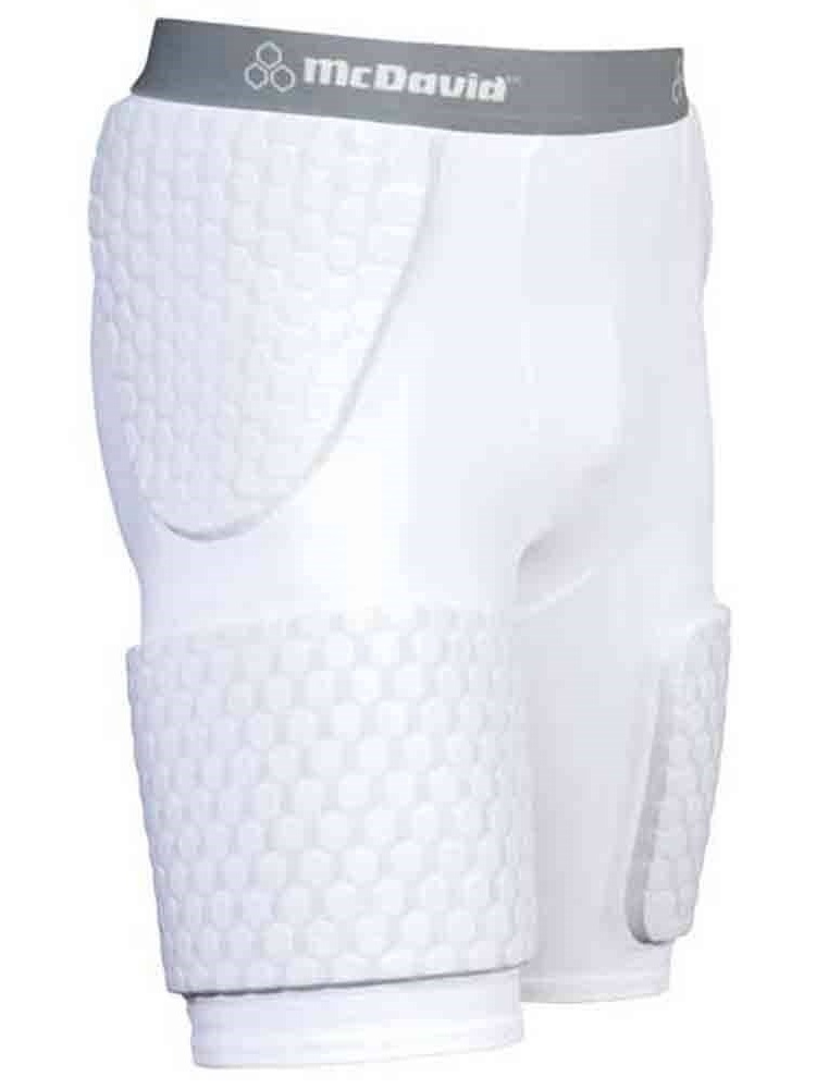 McDavid Womens Hexpad Thudd Short with Extended Hexpad Thigh Guard Sewn In