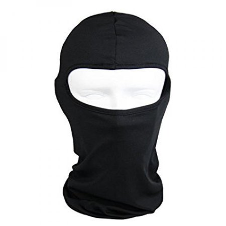Thin Cotton Spandex Balaclava Face Mask, Ski Mask, Helmet Liner Lightweight and Thin for Maximum Comfort (Black)
